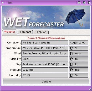 Wet: Weather on Amiga Workbench